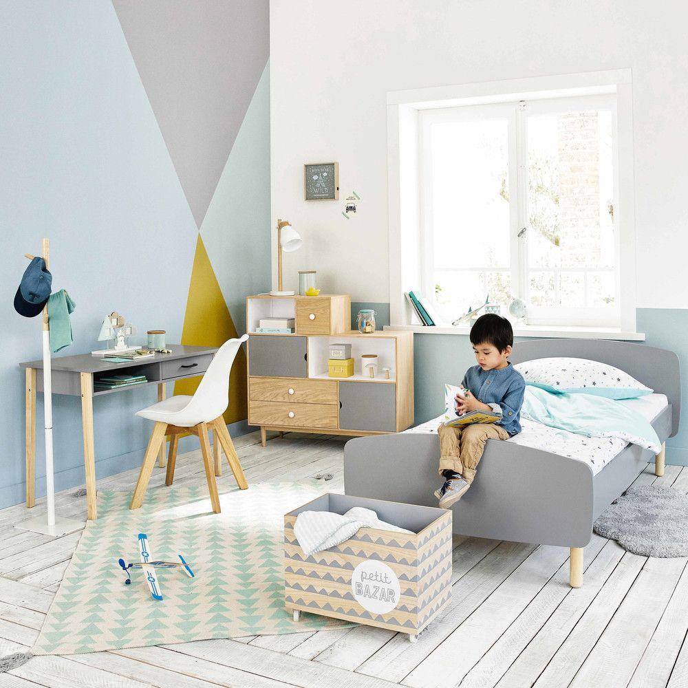 Lit enfant gris 90x190cm | Maisons du Monde | Decoration