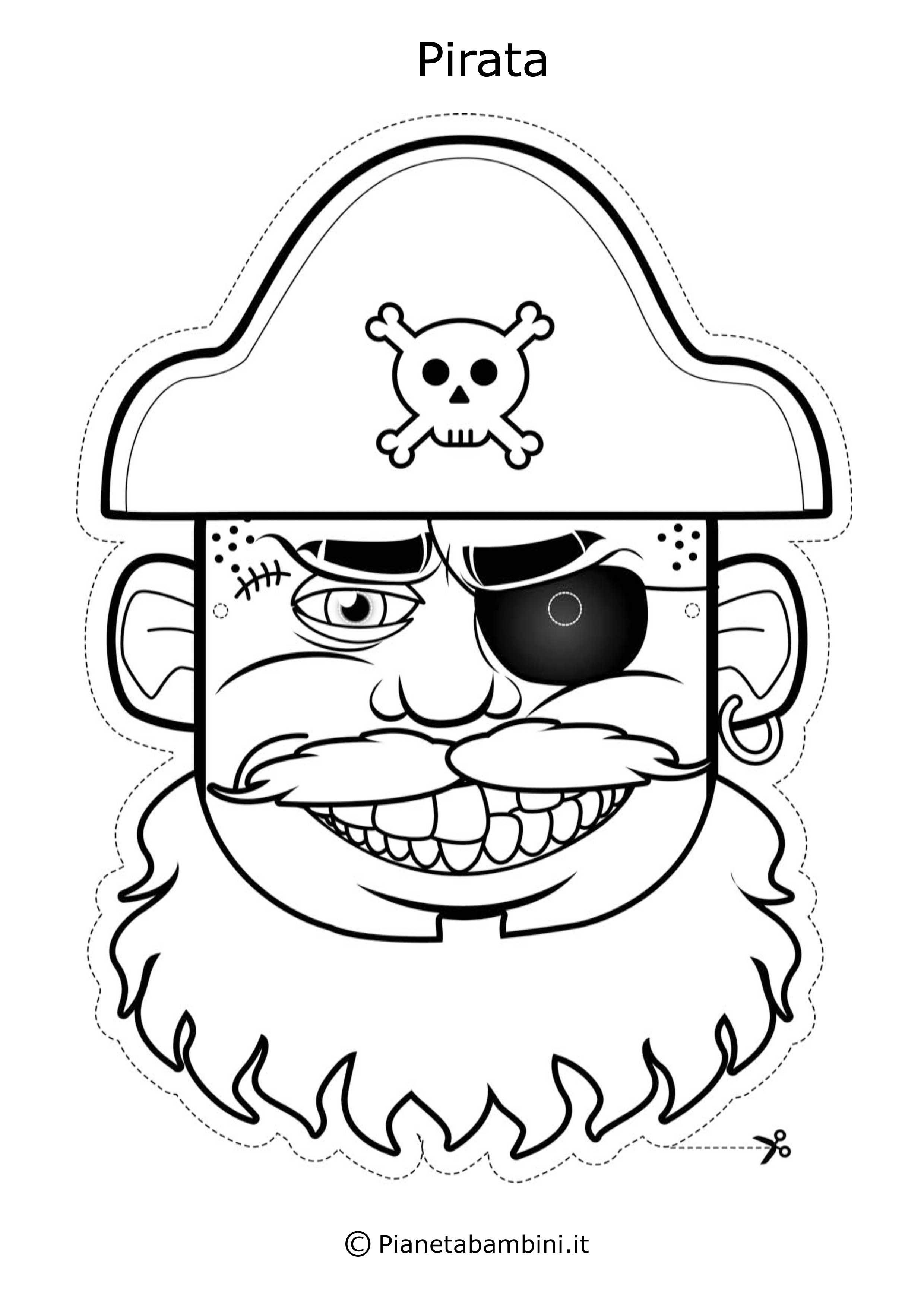 65 Maschere Di Carnevale Da Colorare E Ritagliare Attivita Pirata Tema Pirata Maschere