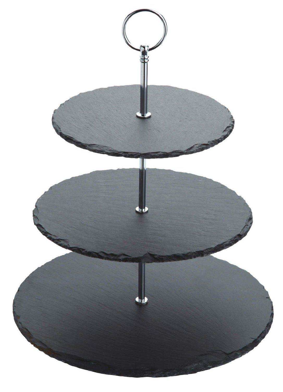 Master Class Artesà Slate 3-Tier Cake Stand / Serving Set ...