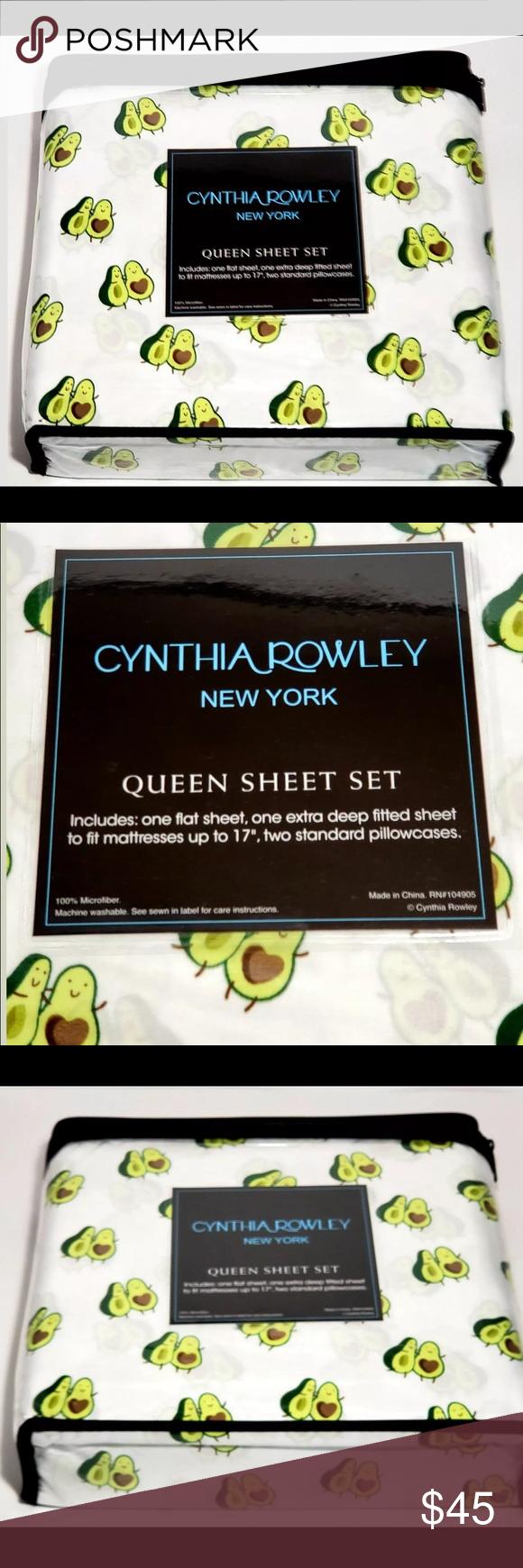 AVOCADO DANCE TWO STANDARD PILLOWCASES NWT BY CYNTHIA ROWLEY NEW YORK