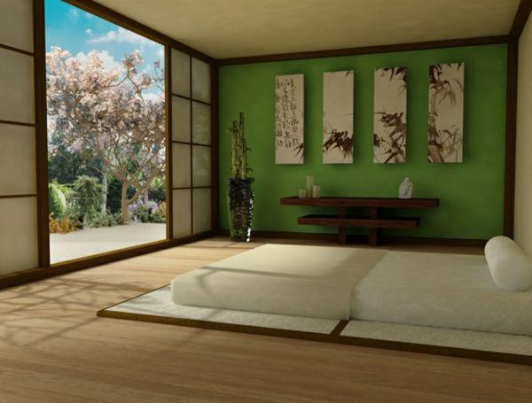 panneau japonais penture zen style asiatique chambre a