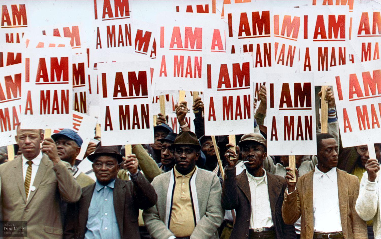 I Am A Man Memphis Sanitation Strike Colorized By