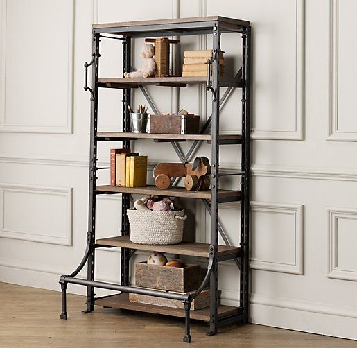Find this Pin and more on Home Decor / Interiors. - French Library Shelvingoh Restoration Hardware I Love You So