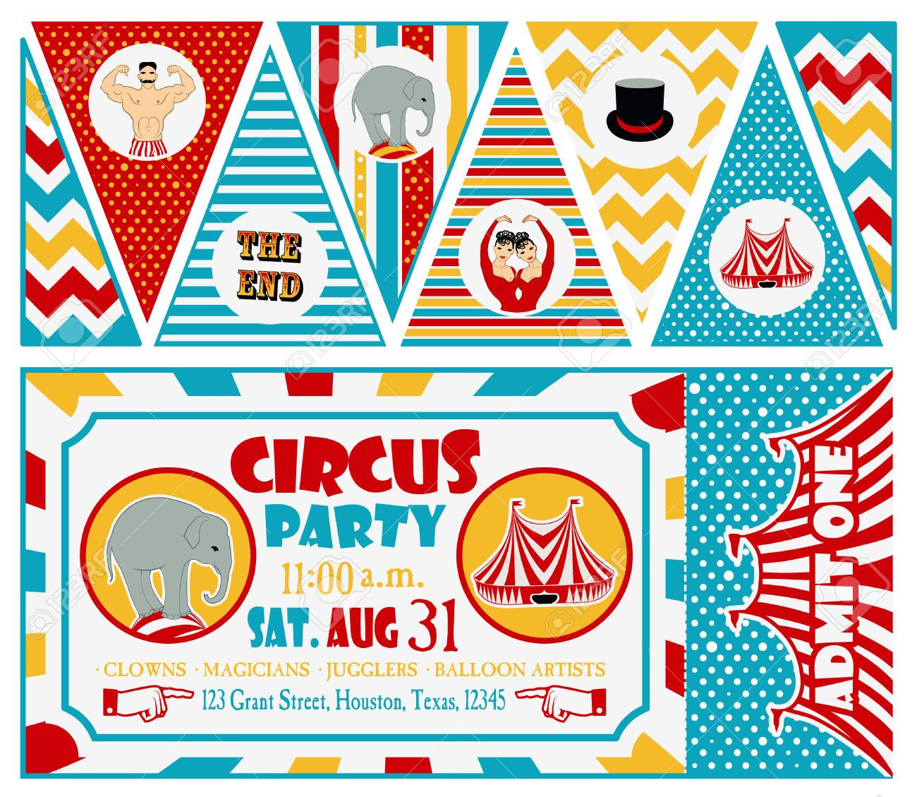 43083401-Circus-Ticket-on-tree-background-Vector-illustration-Stock-Vector.jpg (1300×1129)