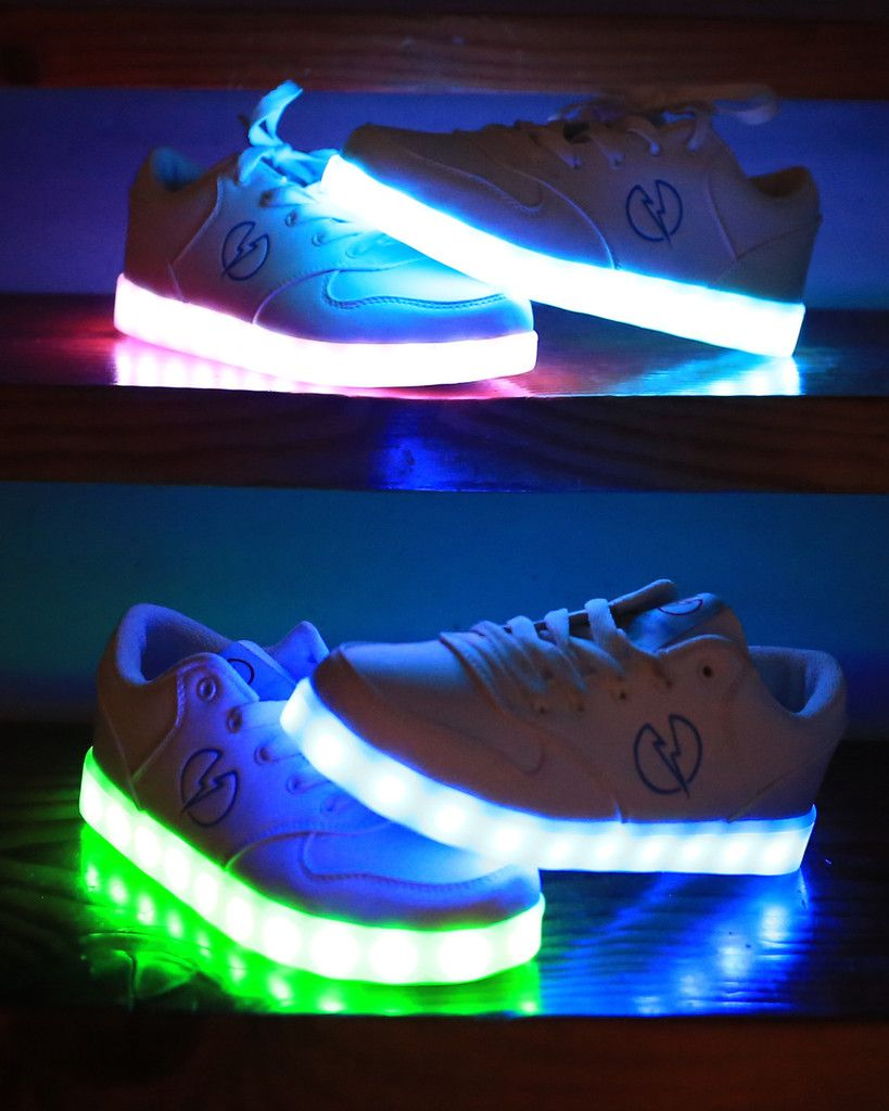 How to Make LED Sneakers That Light Up as You Walk | Athletic wear ...