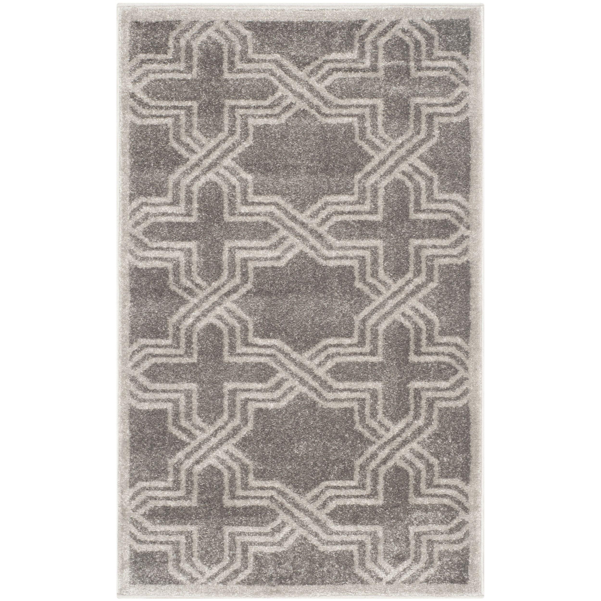 Safavieh Amherst Indoor/ Outdoor Grey/ Light Grey Rug (3' x 5') , Size 3' x 5' (Olefin, Geometric)