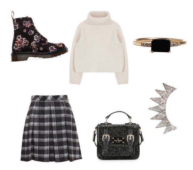 """""""jan 4 (1)"""" by sa14muna on Polyvore featuring Kate Spade, Proenza Schouler, LUMO and Dr. Martens"""