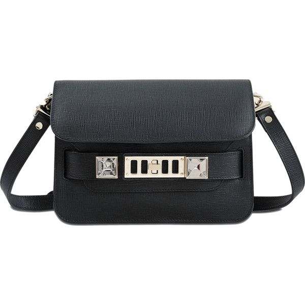 Proenza Schouler PS11 Mini Classic Bag ($1,875) ❤ liked on Polyvore featuring bags, handbags, shoulder bags, flap crossbody, handbags purses, purse shoulder bag, handbags shoulder bags and crossbody purse