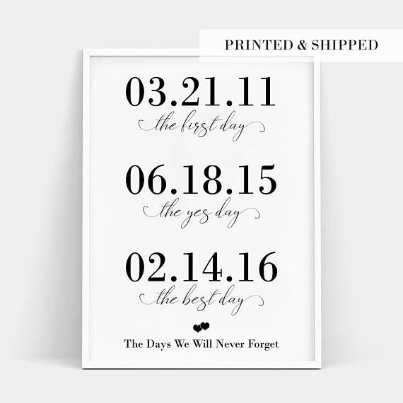 First Day Yes Best Custom Print Personalized Wedding Relationship Timelinepersonalized