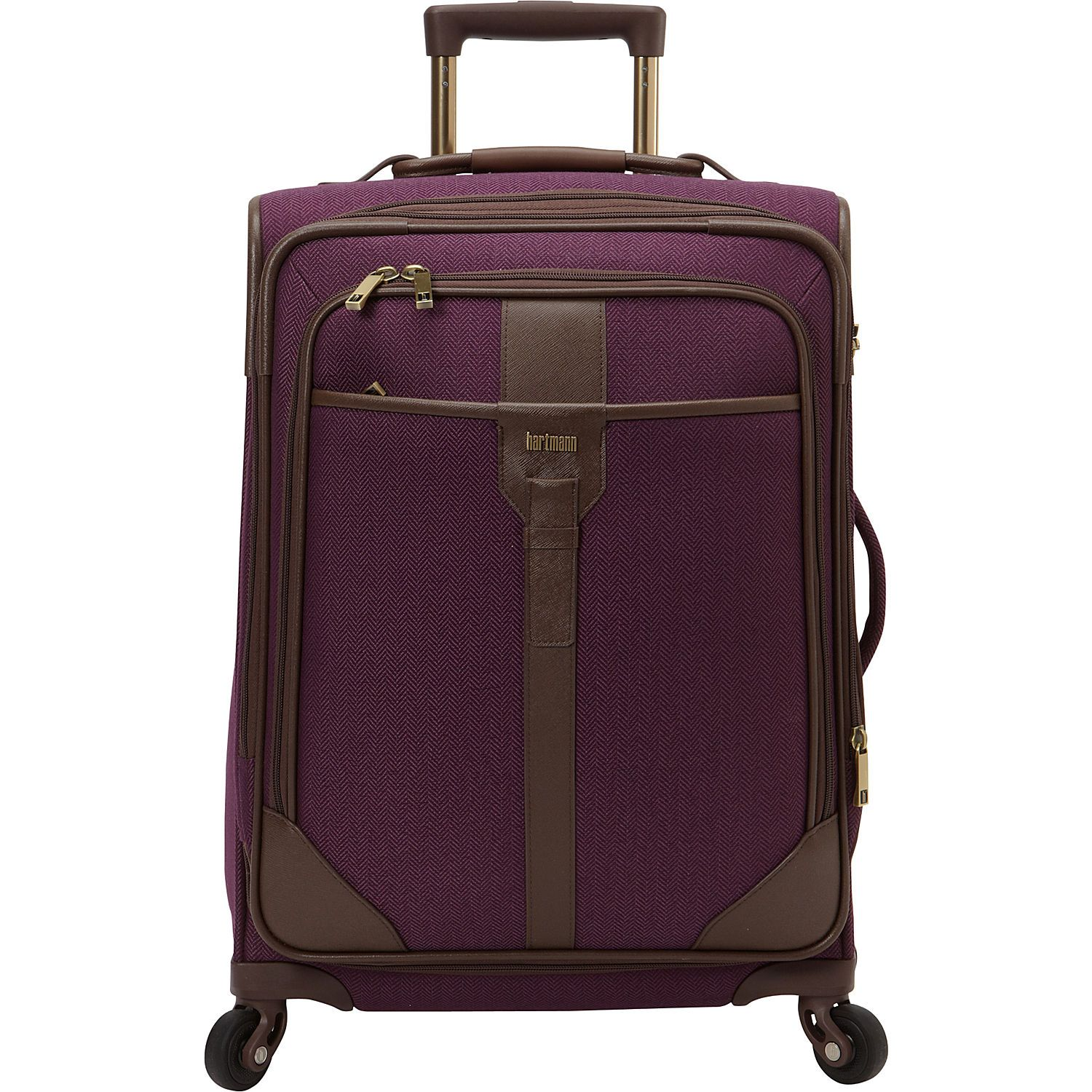 1a578db5ca09 Hartmann Luggage Herringbone Luxe Softside Carry On Expandable Spinner -  eBags.com