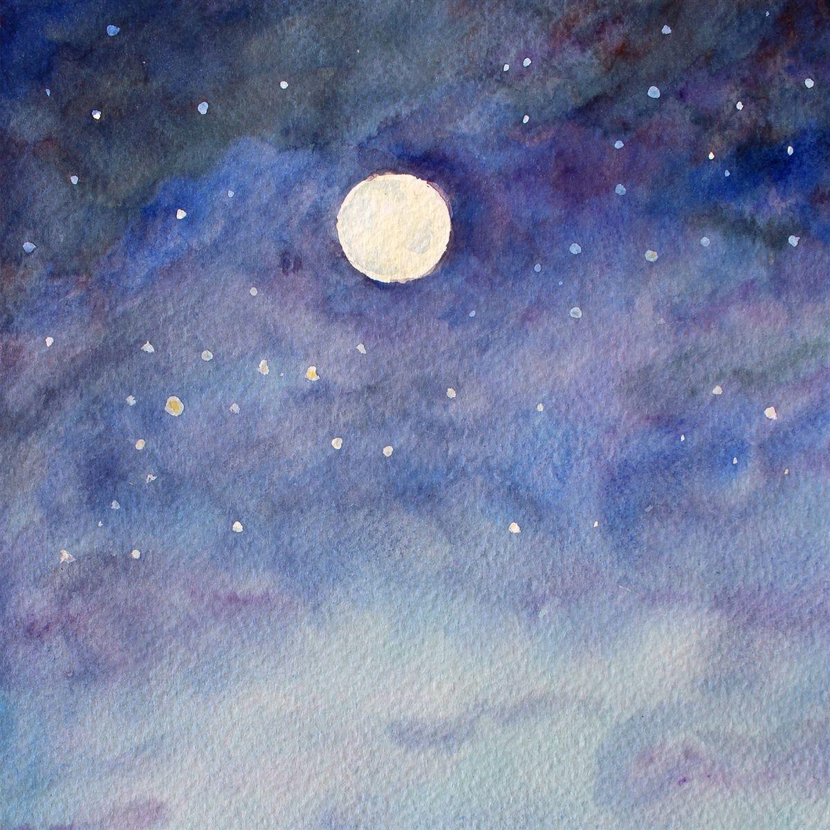 Картинки звездного неба рисовать