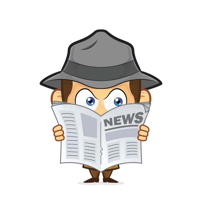 Detective Spying Through Newspaper Clipart Picture Of A Detective Cartoon Character Spying Through Newspaper St Spy Cartoon Vintage Pop Art Cartoon Characters