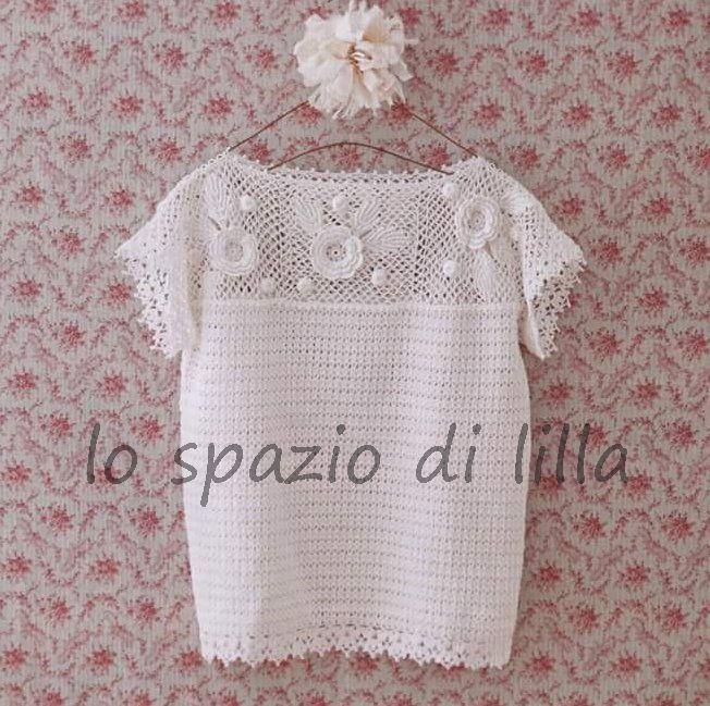 Lo Spazio Di Lilla Maglia Alluncinetto Con Schemi Crochet T