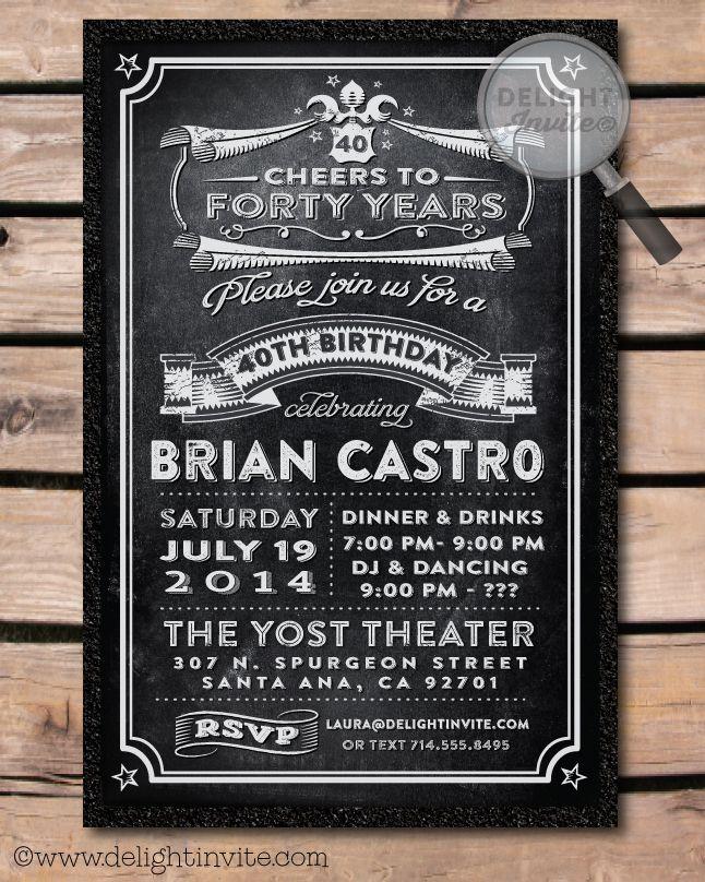 Over the Hill 40th Birthday Party Invitation [DI-460] : Custom ...