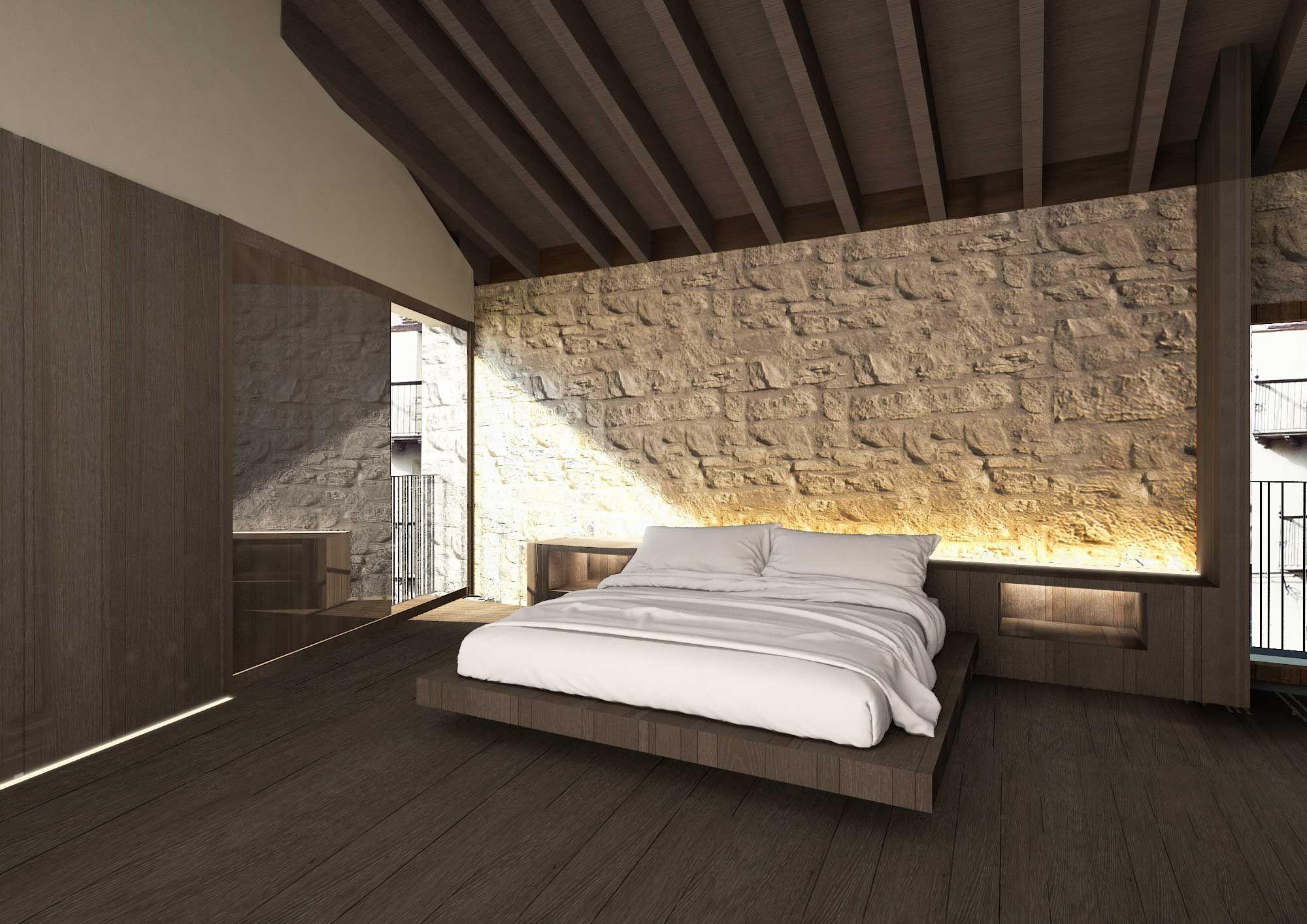 Habitación de diseño contemporáneo en una casa rural   Ideas casa ...