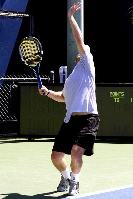 Tennis Serve Exercises And Drills Are Practiced In Order To Improve The Tennis Serve Just One Tennis Serve Exercise Can Mak Tennis Serve Tennis Tennis Workout