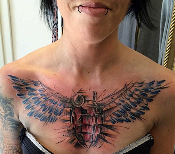 15 Awesome Angel Tattoo Designs Pictures Sheideas Angel Wings Tattoo Wing Tattoo Tattoo Designs