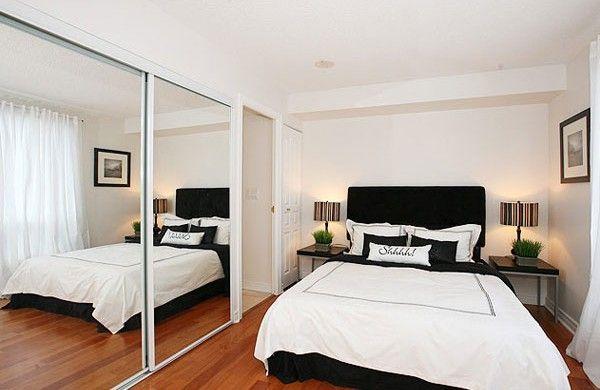 kleine schlafzimmer spiegel kleiderschrank für optische weite - feng shui spiegel im schlafzimmer