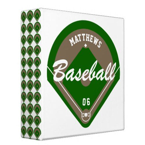 Baseball Diamond Player Name And Number Cards 3 Ring