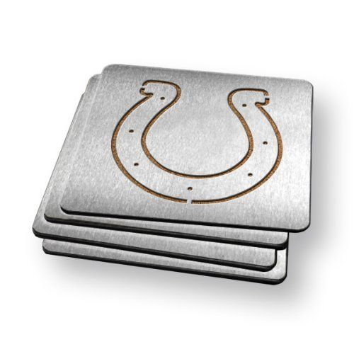 Sportula Products Boasters Stainless Steel Coasters, Indianapolis Colts by Sportula Products. $24.99. Set of four. Unique laser-cut design. Heavy-duty stainless steel. Strong cork backer. Boasters are a set of 4 heavy-duty coasters made from stainless steel and have a strong cork backer. they are the perfect compliment to its sportula counterpart.