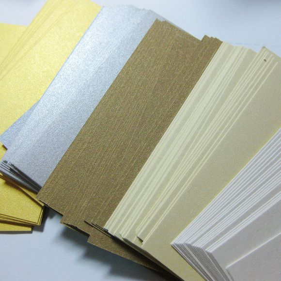 9*54cm pearlescent five colors mixed blank gift hang tag retro - blank memo