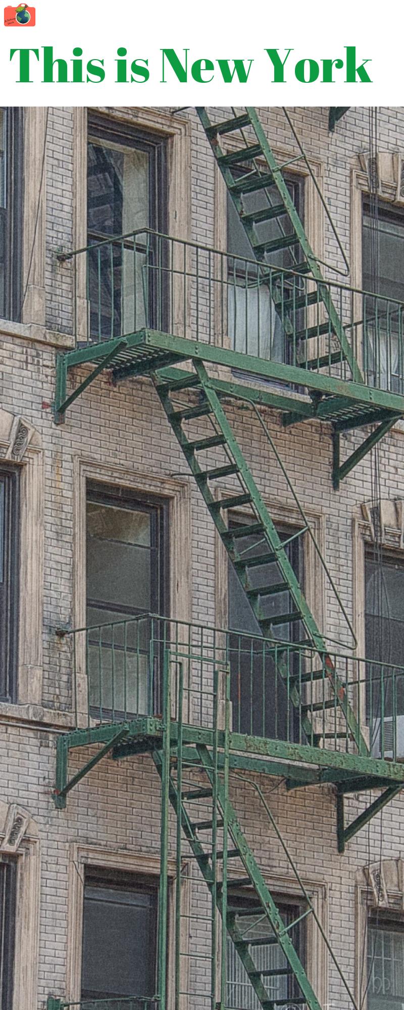 Di NEw York mi hanno sorpreso i colori e le tante scale ...