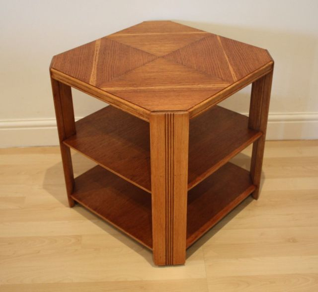 Phenomenal Art Deco 1930 40S Octagonal Style Wooden Coffee Table Download Free Architecture Designs Lukepmadebymaigaardcom
