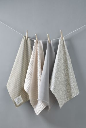 Set Of 4 Tea Towels Tea Towels Natural Tea Towels Towel