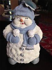 "Snow Buddies ""Snowman Figurine""  11"" High  Pre-Owned"