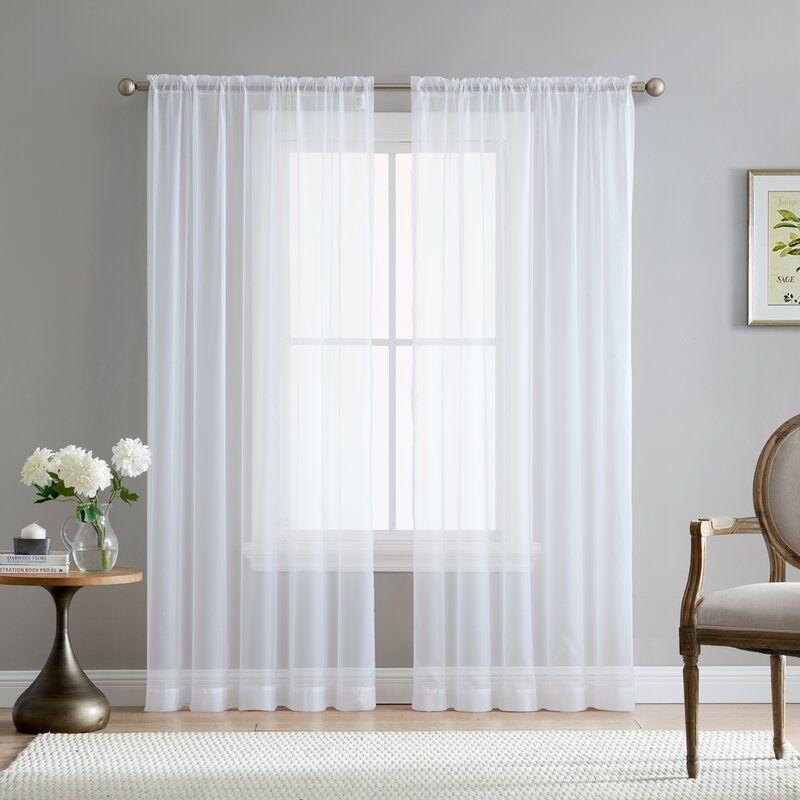 Luxury Lined Curtain Drapes Set Sheer Window Treatment 2 Panel 5 Colors Jasmine
