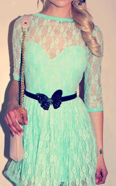 mint green dress. love!