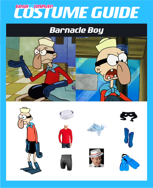Barnacle Boy Costume Diy Guide For Cosplay Halloween Diy Costumes For Boys Boy Costumes Spongebob Costume