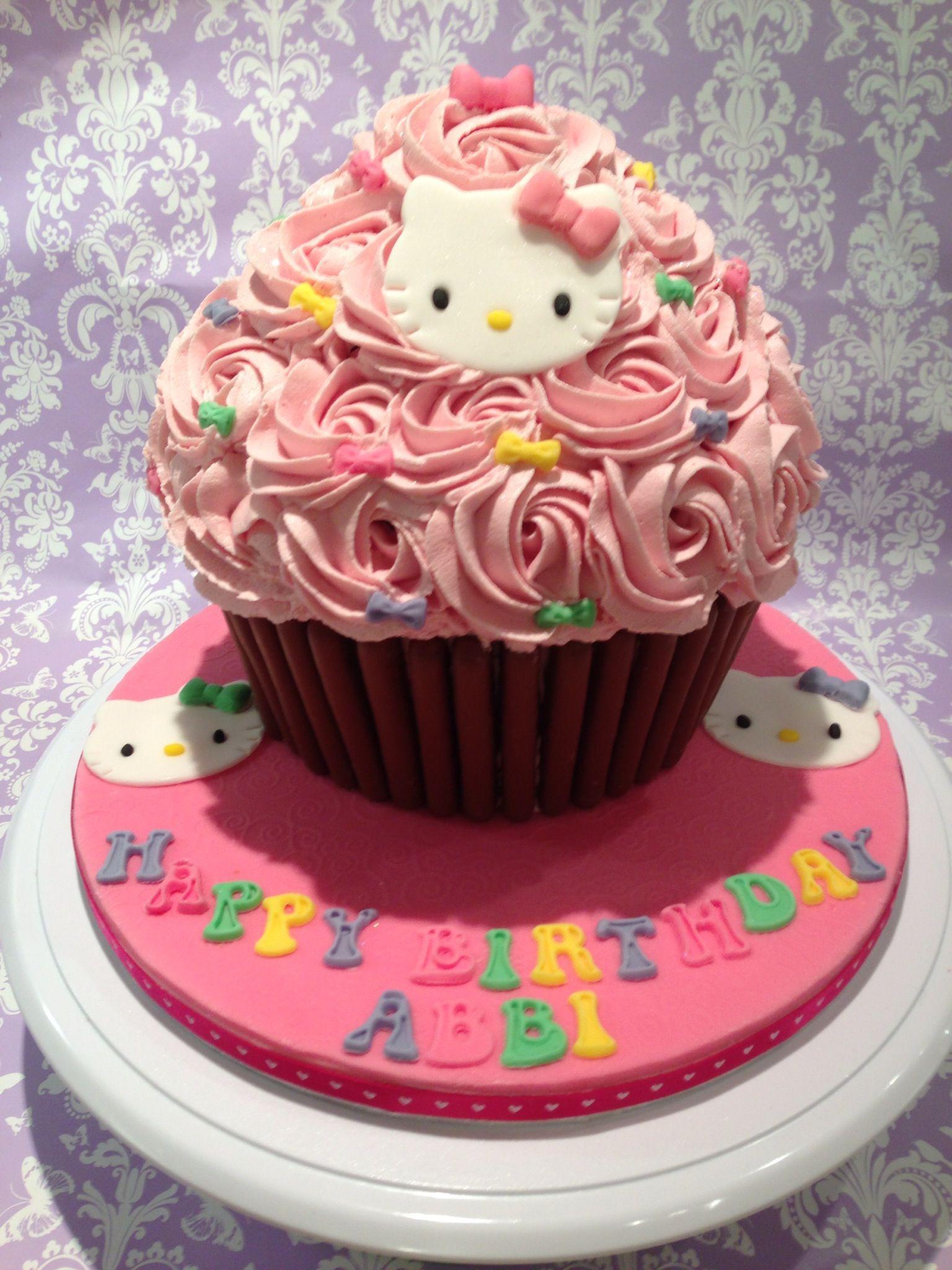 Hello Kitty Giant Cupcake Giant Cupcake Cakes Cupcake Cakes Big Cupcake