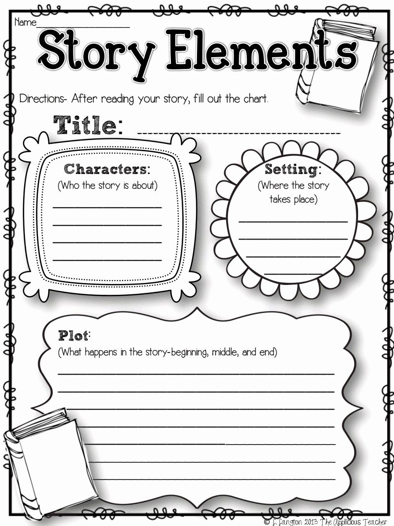 50 Literary Devices Worksheet Pdf Chessmuseum Template Library In 2020 Graphic Organizers First Grade Reading Story Elements Worksheet