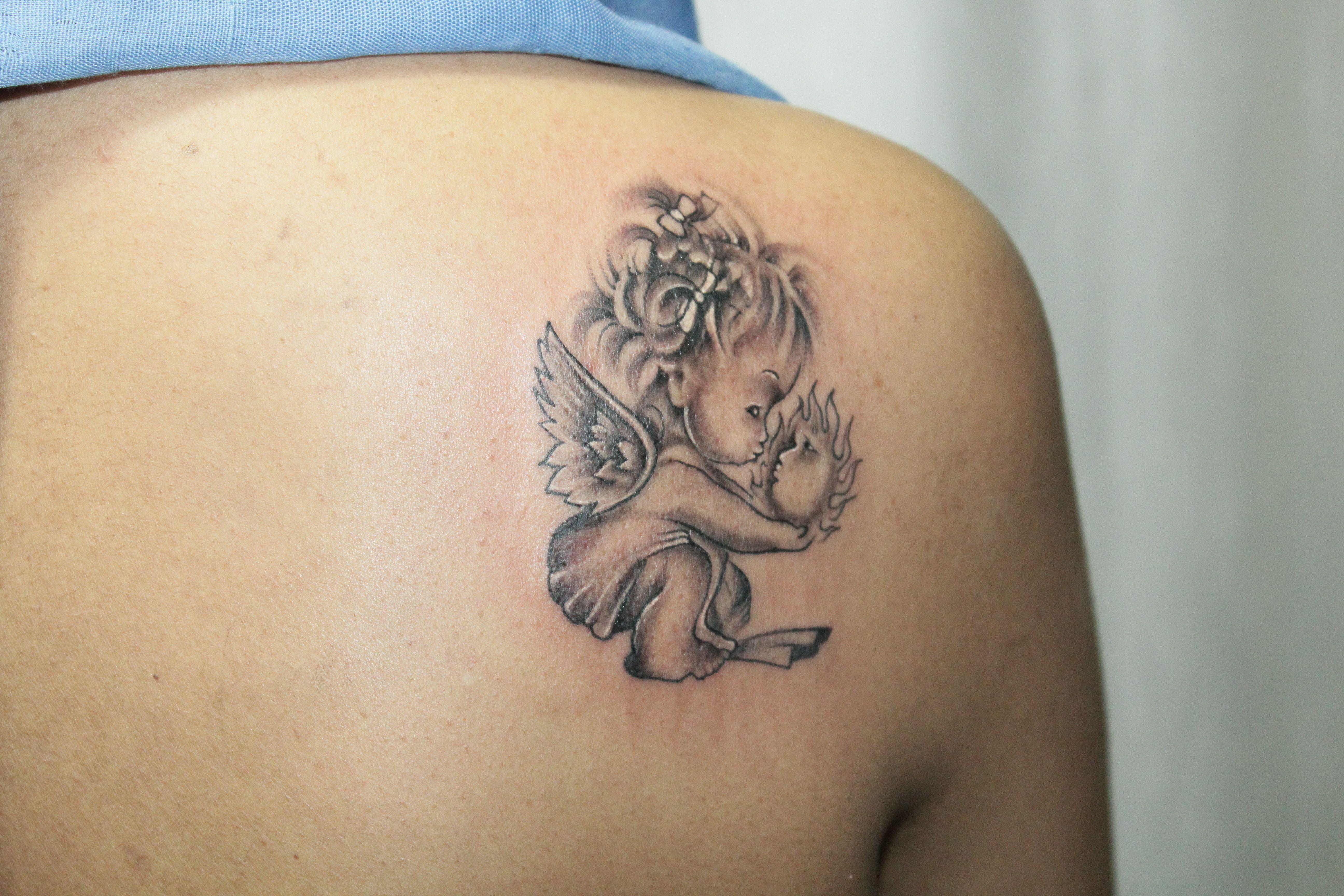 Baby Angel Tattoo | Tattoos, Baby angel tattoo, Swan tattoo