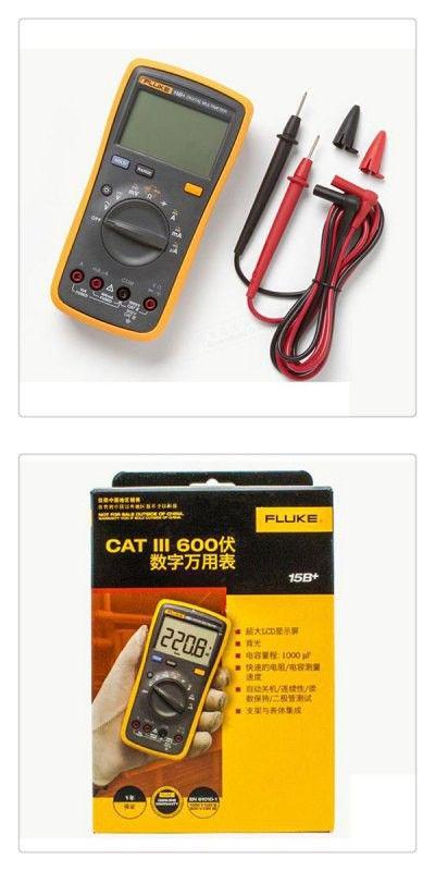 FLUKE - 15B+ High Performance Digital Meter Electrical Auto Multimeter Auto/Manual Range Tester