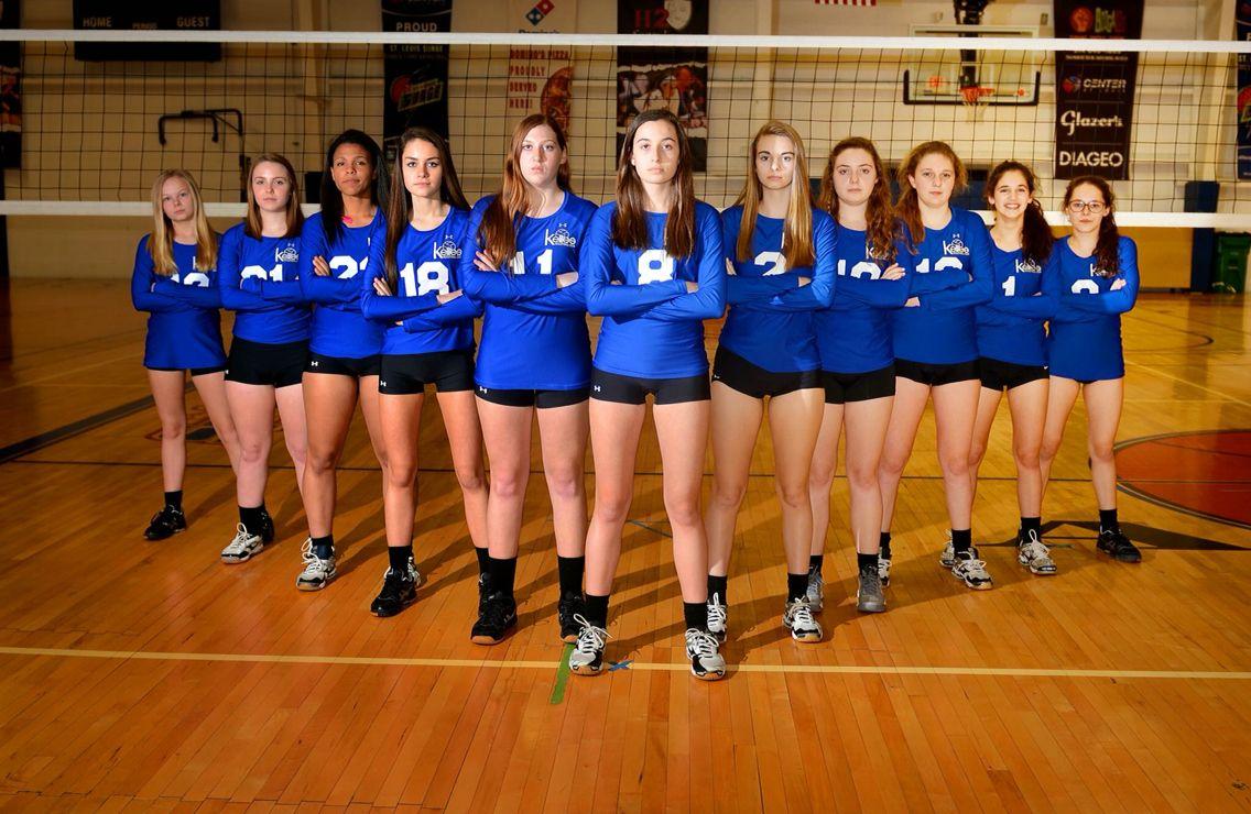 K Elites Volleyball Club Stl Team Photo V Formation