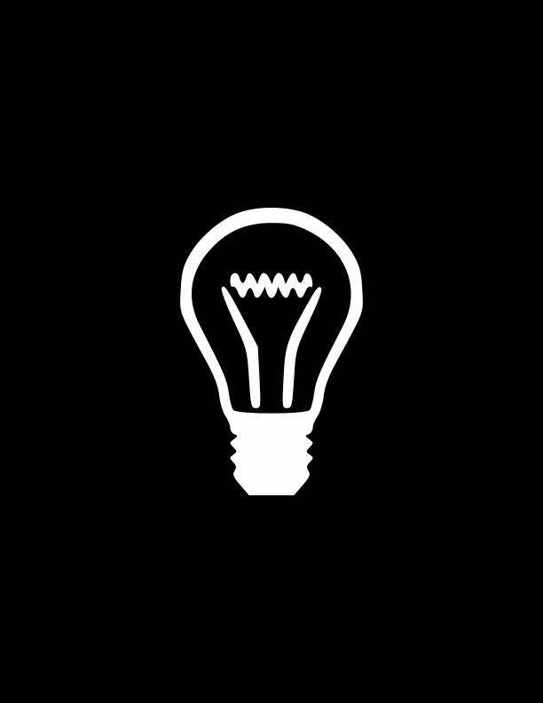 Light Bulb Light Bulb Decal Laptop StickersTablet   Etsy