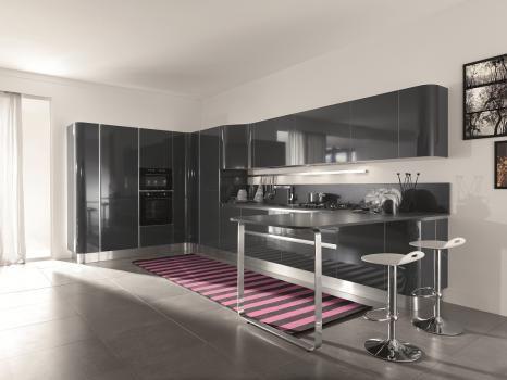 cucina mir colours laminato grigio ferro lucido