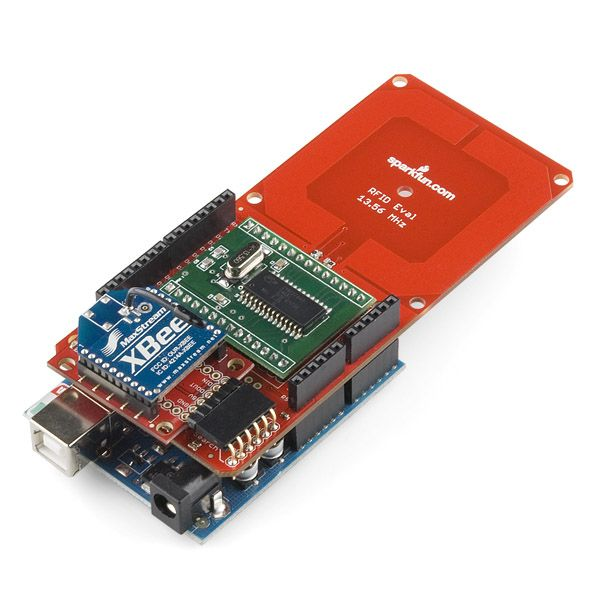 SparkFun RFID Evaluation Shield - 13.56MHz | Rfid. Arduino. Arduino projects