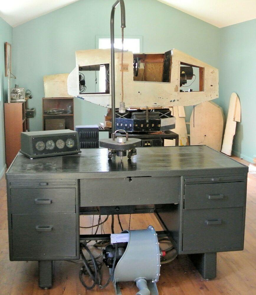 1943 C3 Link Trainer Pilot Navigation w/ Desk Plotter