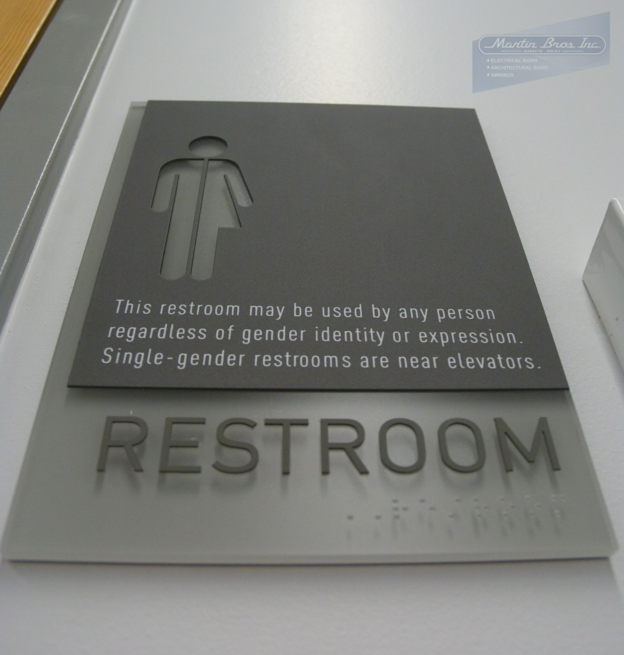 ADA Compliant Transgender Restroom Sign Reed College Performing - Ada compliant bathroom signs
