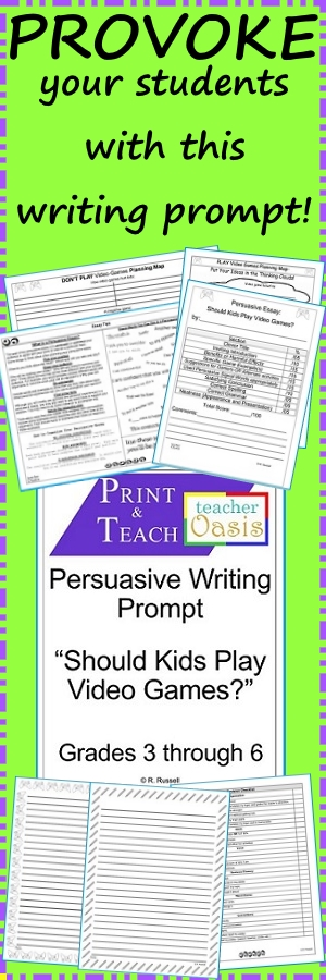 Get Your Students Attention With This Writing Prompt Should Kids  Get Your Students Attention With This Writing Prompt Should Kids Play Video  Games Everything You Need To Teach And Assess Persuasive Essay Writing Essays About Health also How To Learn English Essay  English Essay Ideas