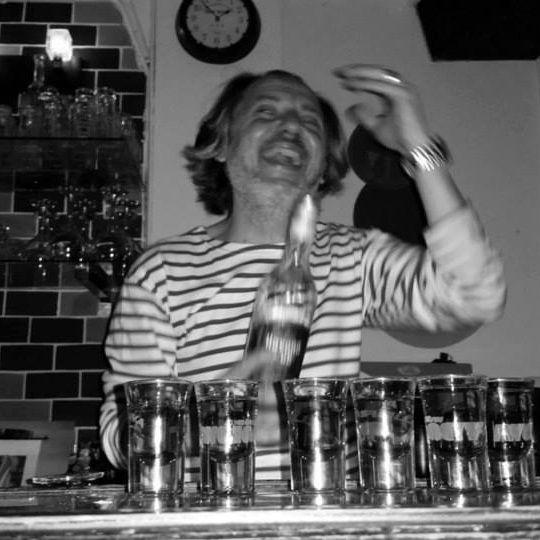 """Edouard Chueke, """"The Doudz"""", owner of the bar and restaurant L'Aréa."""