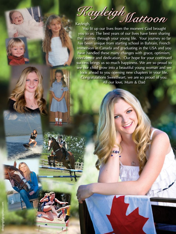 Senior Page Templates | Senior page | Scrapbooking | Pinterest | Say ...