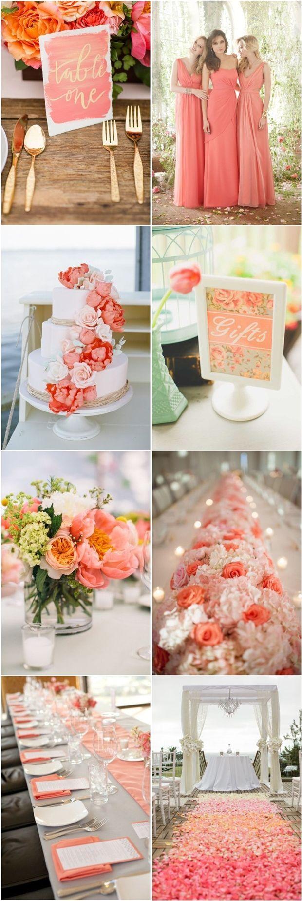 Coral Wedding Ideas Beach Color