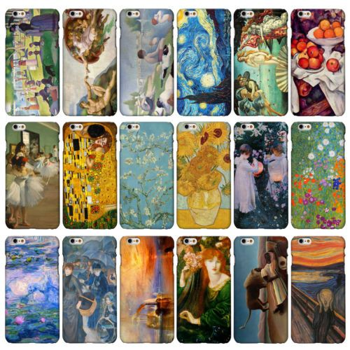 Classic Art Collection Cases For Iphone Range 3dp Famous Artist Painting Covers Famous Artists Paintings Classic Art Artist Painting