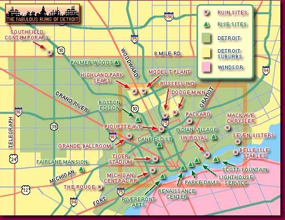 Detroit Suburbs Map on