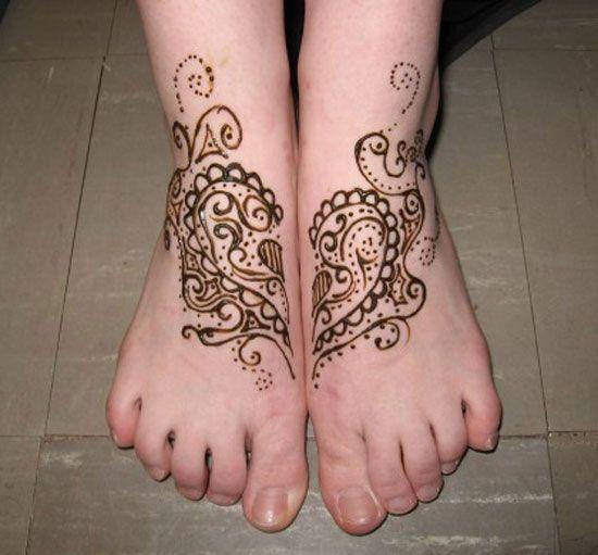 Leg Mehndi Design For Beginners : Very simple easy best mehndi patterns for hands feet