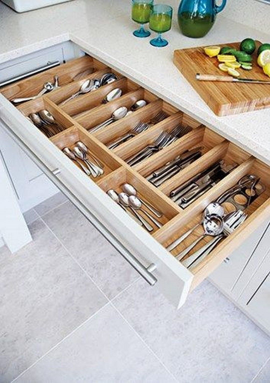 45 Gorgeous Corner Cabinet Storage Ideas For Your Kitchen #cabinetorganization
